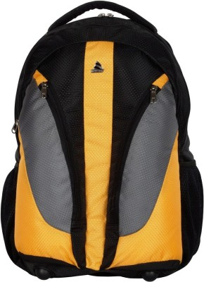 Clubb Sporty Waterproof School Bag(Black, Yellow, Grey, 8 L)
