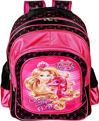 Mattel Barbie Pearl Princess School Bag(Pink, 16 inch)