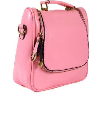 India Unltd Patent Leather Pink Backpack School Bag