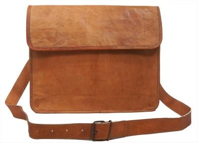 pranjals house Men, Girls Brown Genuine Leather Messenger Bag