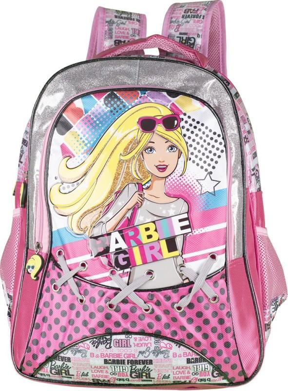 Barbie Waterproof Backpack(Pink, 16 inch)