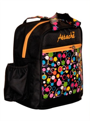 Attache Padded 1 Container Box Waterproof School Bag(Black, 4 L)