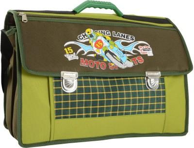Compass Biker Print Spacious (18 inch) Waterproof School Bag
