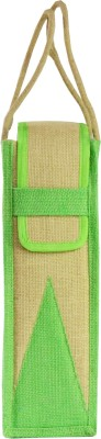 Ashvah Ashvah Green Water Bottle Jute Bag Waterproof Lunch Bag(Green, 1 L)