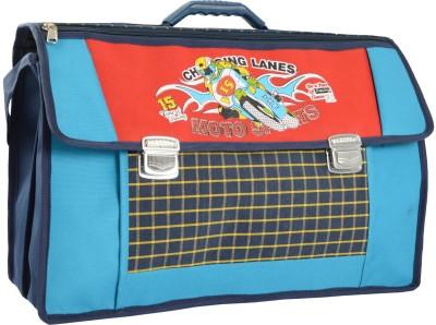 Compass Biker Print Spacious (20 inch) Waterproof School Bag