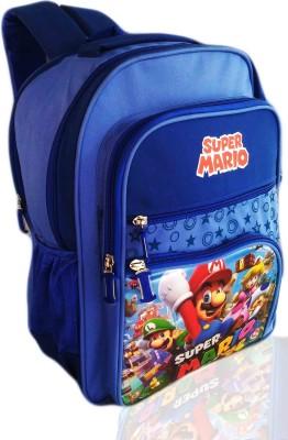 Digital Bazar FABULOUS BLUE LONDON MARIO CARTOON SCHOOL BAG (MALAYALAM BOY) EDITION Waterproof School Bag