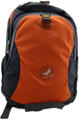 Gene Laptop Orange Waterproof School Bag
