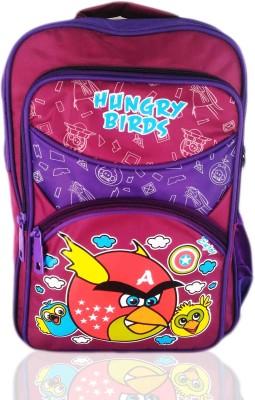 Digital Bazar Yummy Delicious Pink MALAYALAM BIRD Cartoon School Bag (THALASSERY) Edition Waterproof School Bag
