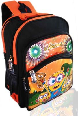 Digital Bazar Russian Orange AMAZONICA MALAYALAM GENIUS Cartoon Kids Backpack ( MUMMA I LOVE THIS) Edition WOW Waterproof School Bag