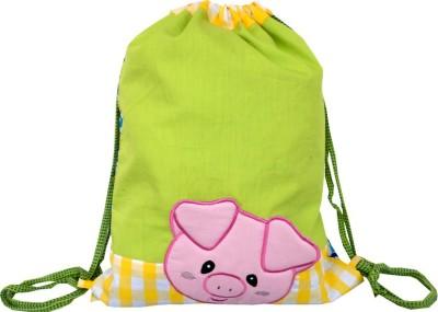 Little Pipal Farm Animals Junior Piggy Drawstring Bag Backpack
