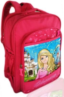 Digital Bazar Los Angeles Pink CHAARBIE THE MAHARASTRIAN GIRL Cartoon (MUMMAS YUMMY CUTE) Edition 4th Waterproof School Bag