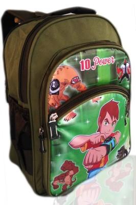 Digital Bazar Roman Green MIRACLE 10 KARNATAKA BOY Cartoon Kids Backpack (PAPA CHOICE) Edition 3rd Waterproof School Bag
