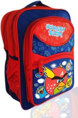 Digital Bazar Red CHILLICA AMAZONICA BIRD Cartoon School Bag (MUMMA PAPA) Edition Waterproof School Bag