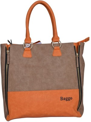 Baggo School Bag(Beige, 16 inch)