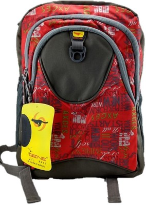 Gene Light Weight Red Waterproof School Bag