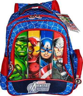 Disney Avengers Group Art FacesBlue Colour School Bag