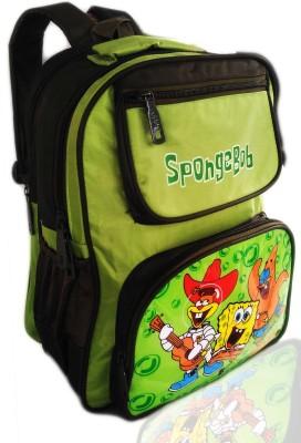 Digital Bazar American Jungle Green MIRACLE SPONGY BOY Cartoon backpack (LUCKNOW NAWAB) Edition Waterproof School Bag