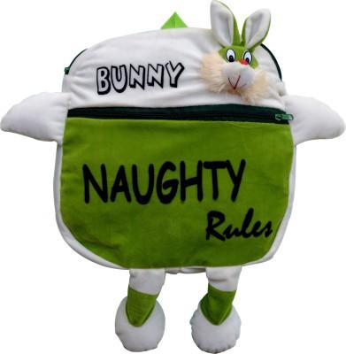 Funtastik Green Naughty Bunny Design Kids Bag  - 40 cm