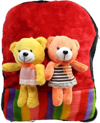 Tickles By Inmark Couple Teddy Shoulder Bag School Bag
