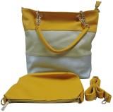 ZOOEY Hand-held Bag (Yellow, Silver)