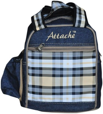 Attache Padded 1 Container Box ( Blue With Brown) Waterproof Lunch Bag