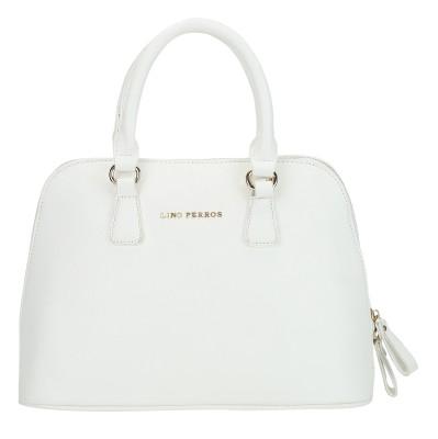 Lino Perros Shoulder Bag(White, 4 inch)