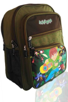 Digital Bazar LONDON AMAZONICA GREEN MIRACLE THE MIRAAJ BOY CARTOON SCHOOL BAG (MUMBAIKERS) EDITION Waterproof School Bag