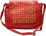 Bainsons School Bag (Red, Gold, 8 inch)