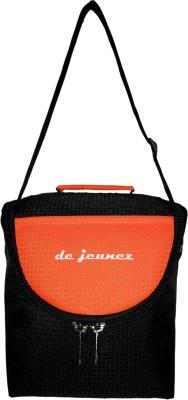 de jeunez Lunch Bags Waterproof Lunch Bag(Black, Orange, 8 inch)
