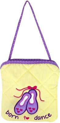 Little Pipal Born to Dance Mini Tote Shoulder Bag(Yellow, 8 inch)