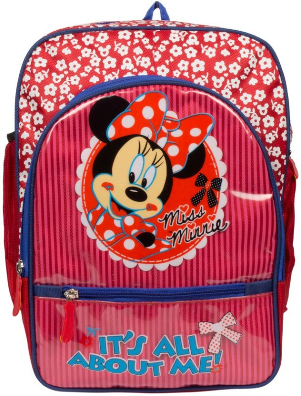 Bizarro Waterproof School Bag(Red, 15 inch)