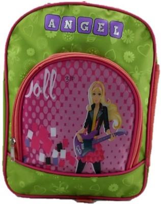 indidecor Barbie Pink Green School Bag