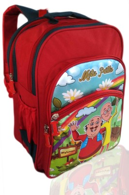 Digital Bazar Paris Red RAJASTHANI MIRACLE MONTU PONTU Cartoon Kids Backpack (CHILIICA WOW) Special Edition Waterproof School Bag