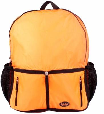 Be for Bag Double Zipper Orange Foldable School Bag