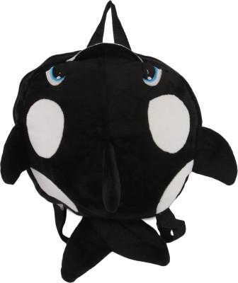 INSTABUYZ BLACK FISH WITH WHITE DOTS School Bag