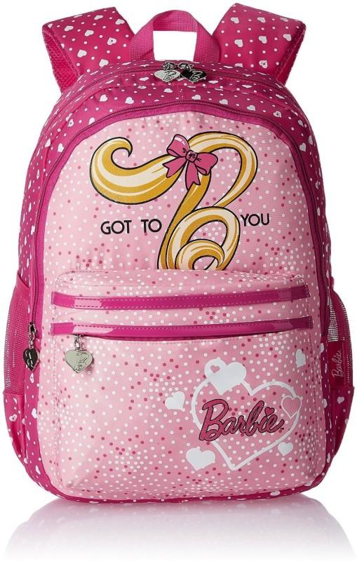 Barbie Waterproof Backpack(Pink, 17 inch)