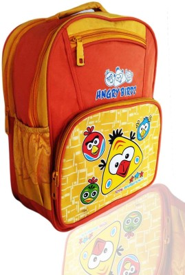 Digital Bazar Chicago Yellow HUNGRY SPARROW Orange Kids Cartoon Net MALAYALAM Backpack (DANCER) Edition Waterproof School Bag