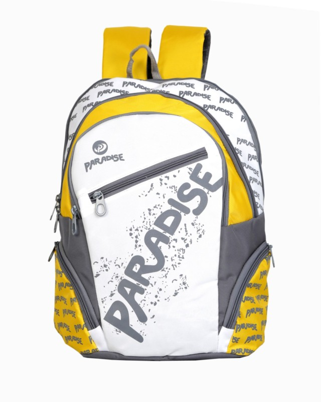 Paradise Waterproof School Bag(Yellow, Grey, White, 34 L)
