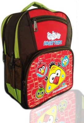 Digital Bazar Denmark Red HUNGRY CHILLICA BIRDZ Kids Backpack Cartoon Net(BOMBER) Edition Waterproof School Bag