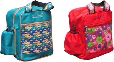 Gleam Padded 1 Container Box Waterproof School Bags(Blue, Red, 5 L)
