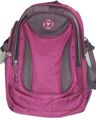 Young College Back Pack Waterproof Shoulder Bag(Pink, 15 inch)