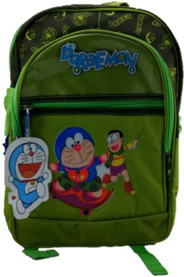 indidecor Doraemon Green 3 School Bag
