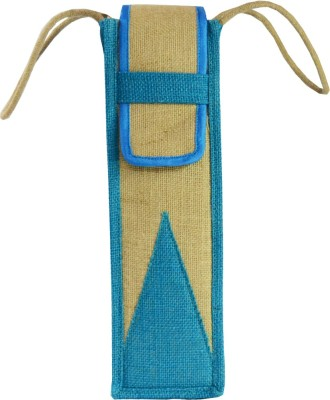 Ashvah Ashvah Sky Blue Water Bottle Jute Bag Waterproof Lunch Bag(Sky Blue, 1 L)