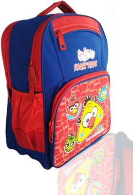 Digital Bazar Sharjah Blue HUNGRY CHILLICA Red Kids Cartoon Net Backpack(HIP-HOP-MALYALAM)Edition Waterproof School Bag