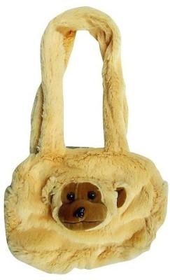 Hello Toys Plush Bags Shoulder Bag(Brown, 3 L)