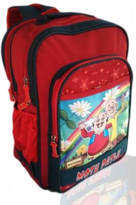 Digital Bazar Romanian Red GUJARATI MIRACLE MONTU PONTU Cartoon (CHILIICA WOW) Special Edition Waterproof School Bag
