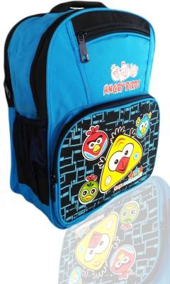 Digital Bazar Sharjah Blue HUNGRY MIRAAJ Birds MALAYALAM Kids Backpack Cartoon Net(SHARK)Edition Waterproof School Bag