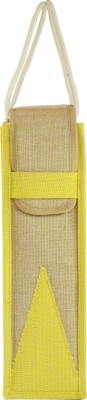Ashvah Ashvah Yellow Water Bottle Jute Bag Waterproof Lunch Bag(Yellow, 1 L)