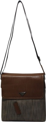 BagsHub Sling Bag(Brown, 5 L)
