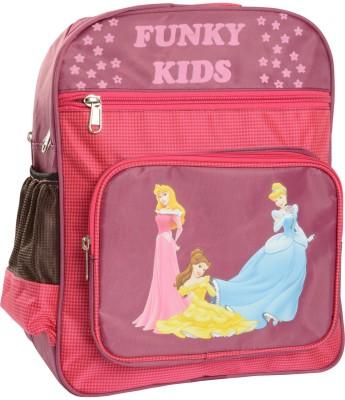 Compass Pink Checks Big Pocket (14.5 inch) Waterproof School Bag